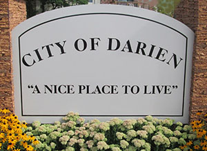 city of darien sign